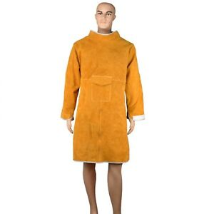 Workplace Safety Supplies Split Cowhide Protective Leather Welding Apron Durable
