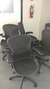 Herman Miller Aeron Chairs 40 Available Sizes A B C Office Closing