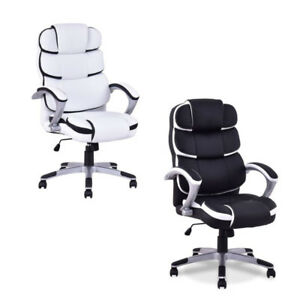 Office Ergonomic Pu Leather High Back Computer Desk Task Chair Stool Executive