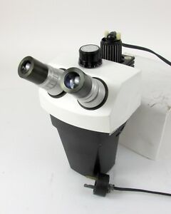Bausch Lomb 312701 424 a Stereozoom 7 Microscope Head W 10x Eyepieces 1x 7x
