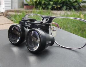 Carl Zeiss 3x 3 0x Dental Surgical Jeweler Loupes Glasses Flip Up