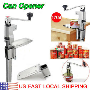 Heavy Duty Large Commercial Can Opener Counter Bench Top Mount Cast Steel Table