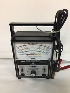 Vintage 1970s Rac Dwell Tach Volt Amp Points Ignition Tune Up Analyzer