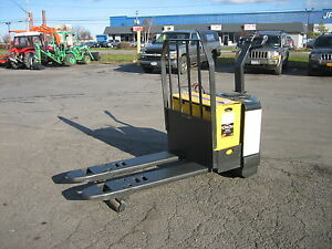 2003 Crown Forklift Electric 6000 Walk Behind Jack Load Backrest 48 Forks Hd