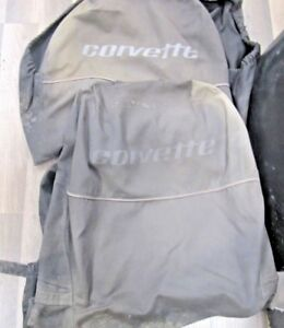 1978 82 Corvette Vintage Embroidered Bucket Seat Covers Pair Very Nice
