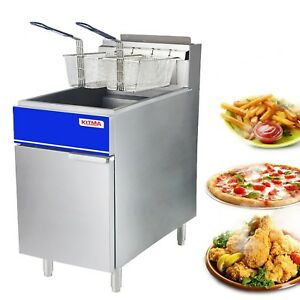 Premium Commercial Deep Fryer Kitma 50 Lb Natural Gas Floor Fryer With 2 F