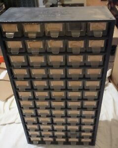 Vintage Metal 60 Drawer Parts Storage Cabinet Bin Organizer Resistors