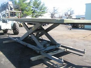 For Sale American Lift Table 17 Ft 7 Long X 8 Ft w 10 000 Lb Cap