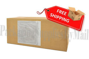 3000 Pieces 4 5 X 5 5 Clear Packing List Slip Holders Envelopes Plain Face