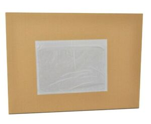 8000 Pieces 7 5 X 5 5 Clear Packing List Slip Holders Envelopes Plain Face