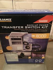 Reliance Pre wired 6 circuit Power 3006hdk Generator Transfer Switch Box Kit New