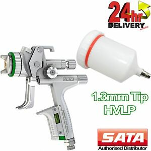 Sata Jet 5000 B Hvlp Nozzle 1 3mm Tip Digital Guage 0 6l Paint Cup Spray Gun