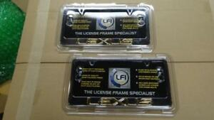 Set New Lexus Chrome License Plate Frame Ls460 Gx460 Is250 Is300 Is350 Ls400