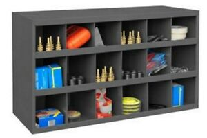 Steel Bin Shelving 18 Pigeonhole Compartments Parts Fittings Bolt Nut Storage