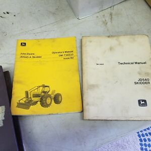 John Deere Jd540 Skidder Technical Manual Tm 1003 Jd540 a Operators Manual