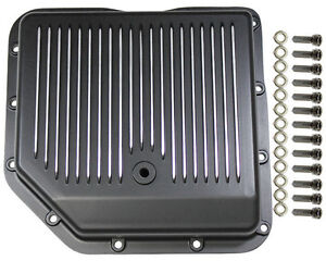 Chevy Aluminum Finned Black Th 350 Th350 Turbo 350 Transmission Pan Trans