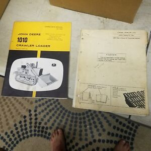 John Deere 1010 Loader Crawler Parts Catalog Pc 704 Operators Manual Om t1925