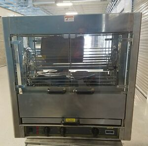 New Equipex Rbe 25 Electric 3 spit Commercial Rotisserie 220 V 3 Phase