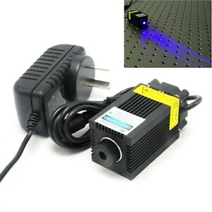 Engraving 450nm 1000mw Blue Focusable Dot Laser Diode Module 12v Adapter Carving