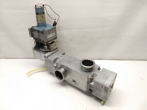 Pneumatic High Vacuum Valve W Nw40 Ports Engel Motor