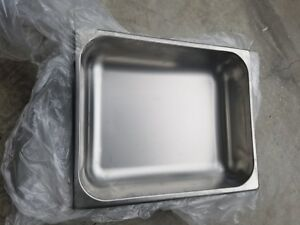 4 Half Size Stainless Steel 2 1 2 Deep Steam Prep buffet Table Food Pans