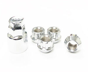1 2 20 Extra Short Chrome Open End Wheel Locks 68 Height Lug Nuts Ford Jeep