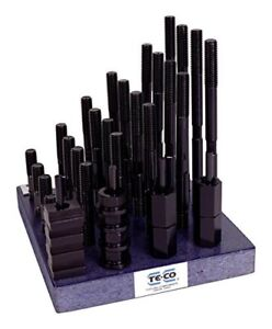 Te co 20615 38 Piece T nut And Stud Kit 7 8 9 Stud X 1 1 16 Table T slot