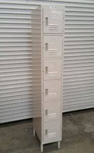 New 6 Door Employee Locker On Legs Allstrong Els 6dr 2308 Security Storage Bins