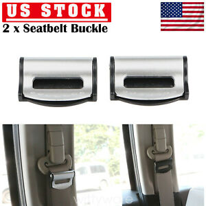 2 Car Seat Belt Adjuster Buckle Strap Comfort Seatbelt Clips Extender Stopper Us
