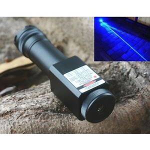 Powerful Visible Beam 450nm 2000 Blue Focusable Laser Pointer Waterproof Torch