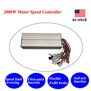 2000w Dc Brushless Motor Controller 48 72v E bike Scooter Electric Bicycle Us