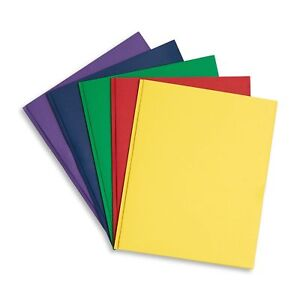 Blue Summit Supplies 100 Two Pocket Folders With Prongs Designed For Office