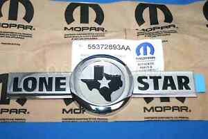 2007 2010 Dodge Ram 1500 3500 Lone Star Edition Emblem Decal Oem 55372893aa