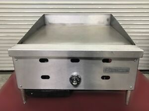 24 Thermostat Gas Flat Top Griddle Counter Table Us Range 8877 Restaurant Grill