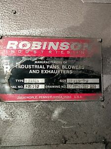 Robinson Industrial Blower Rb1216 67 X 15 X 3 8 350 Hp Large Unit