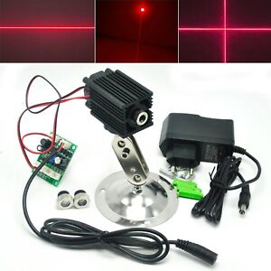 200mw 650nm Red Dot Line Cross Focusable Laser Diode Module 12v Adapter Holder