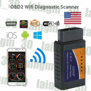 Elm327 Wifi Obd2 Obdii Car Diagnostic Scanner Auto Scan Tool For Pc Iphone Usa