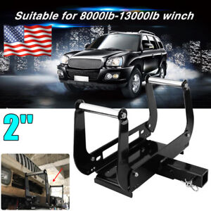 Foldable Winch Mounting Plate Cradle Mount For 2 Hitch Receiver Suv 4wd