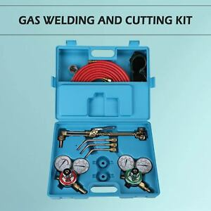 Gas Welding And Cutting Kit Victor Type Acetylene Oxygen Torch Set Regulator E