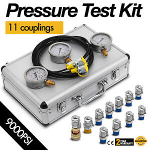 Hydraulic Pressure Guage Test Kit 9000psi Tester No Distortion Construction