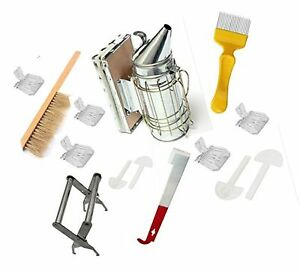 Beekeeping Tools Kit 10 Pcs bee Hive Smoker Beekeeping Accessory bee