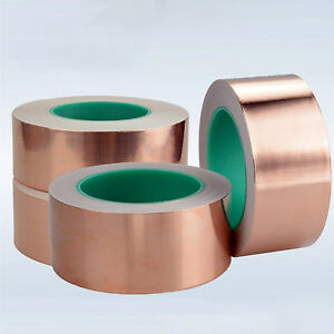 Copper Foil Shielding Tape 100mm X 25m Double Conductive Self Adhesive Barrier