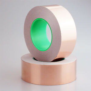Copper Foil Shielding Tape 80mm X 25m Double Conductive Self Adhesive Barrier