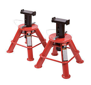 Sunex Tool 1210 10 Ton Low Height Pin Type Jack Stands pair