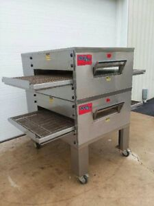 Edge 40 Series Double Stack Gas Fired Conveyor Pizza Ovens 32 Belt Width