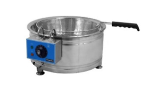 New Round Electric Fryer Uniworld Uf re100 3865 Counter Top Funnel Cake Deep