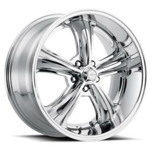 Forte F79 Woodward Torq Thrust Style 20x10 25 Chrome Wheel 5x115 Qty 1