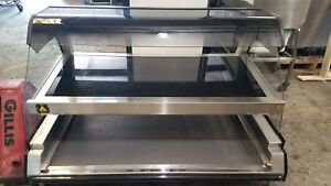 2014 Alto Shaam Ed2 48 2s Heated Display Dbl Shelf Curved Glass Countertop Case