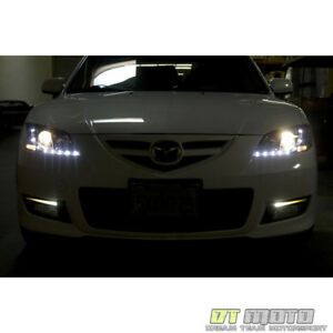 2004 2008 Mazda 3 Mazda3 4dr Sedan Drl Led Daytime Running Projector Headlights