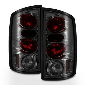 Smoked 2002 2006 Dodge Ram 1500 03 06 2500 3500 Tail Lights Aftermarket Lamps